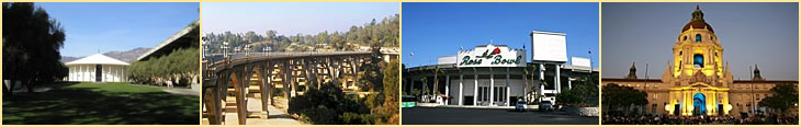 Pasadena: Cal Tech, Bridge, The Rose Bowl, City Hall